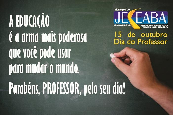 15 De Outubro Feliz Dia Do Professor Prefeitura Municipal De Jeceaba